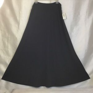 Style & Co Black Ruched  Knit Maxi Skirt XL